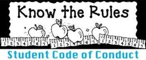 Graphic image of Know the Rulles Student Code of Conduct