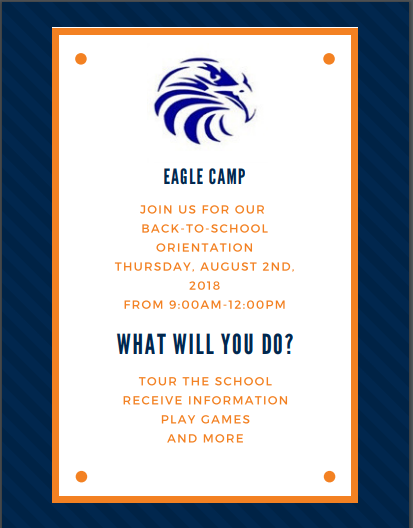 Eagle Camp Orientation for CCMS