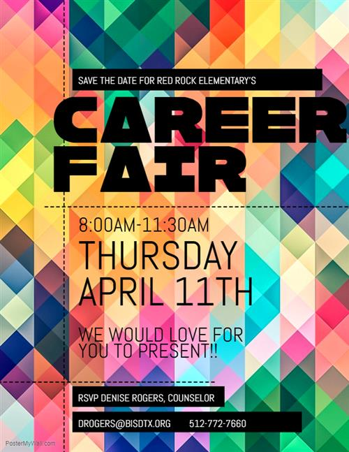 colorful flyer of career fair flyer