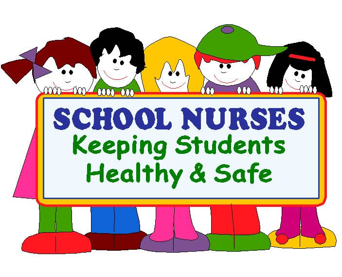children holding sign that reads school nurses keeping students healthy and safe