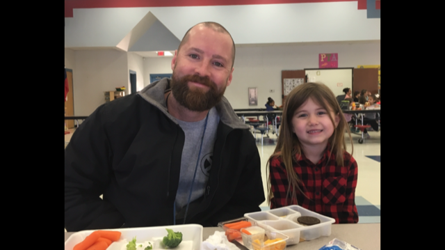 Lunch with a buddy at Mina Elementary!