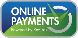 Online Payment logo with blue and green background