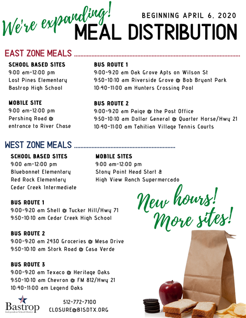 Meal distribution flyer