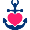 anchor with heart insert