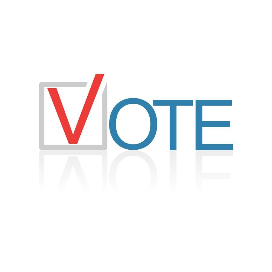 voting icon with patriotic colors